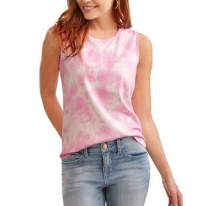 Time and Tru | Pink Tie Dye Muscle Tank